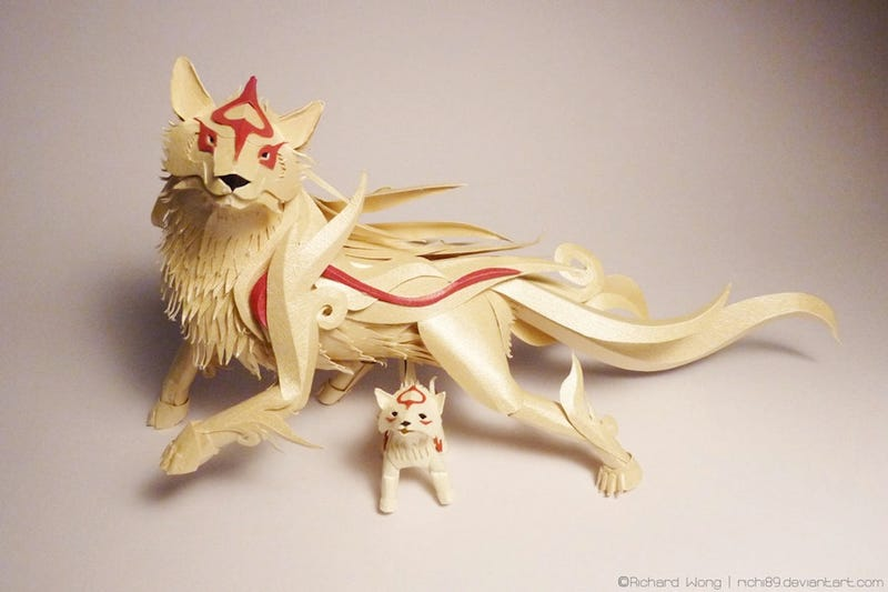 Illustration for article titled Amaterasu Is Already Beautiful. The Papercraft Is Just To Show Off.