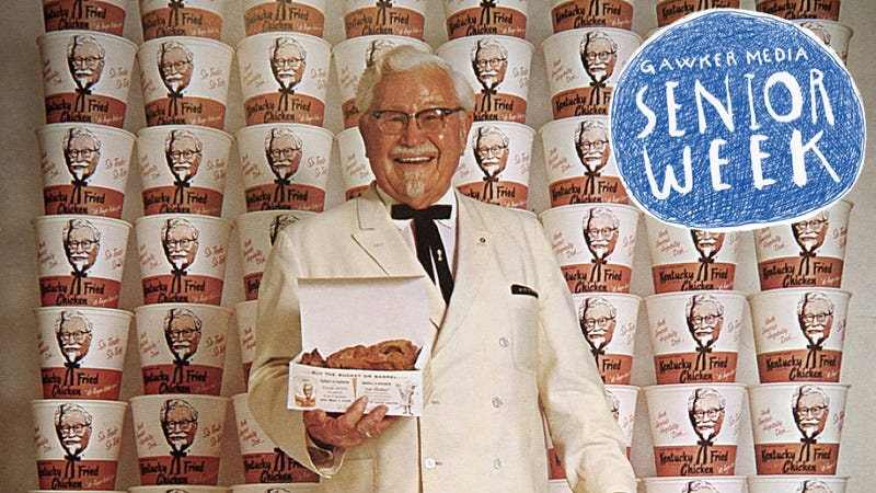 Illustration for article titled The Time KFC's Colonel Sanders Nearly Scared My Dad to Death