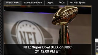 Illustration for article titled Watch Super Bowl XLIX for Free with NBC's Live Stream