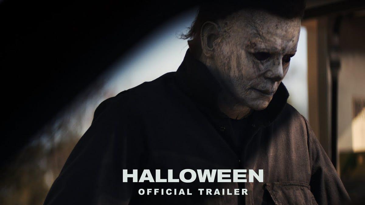 michael myers & jamie lee curtis back in 'halloween' trailer