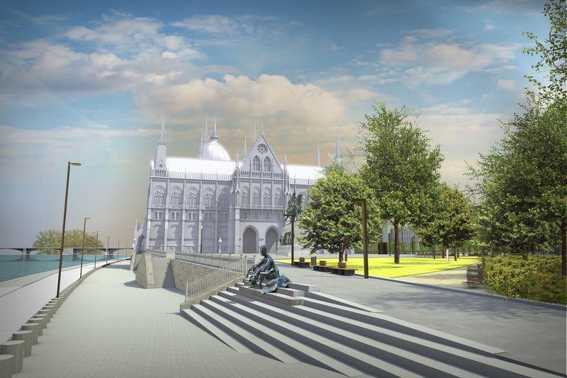 Illustration for article titled FRISSÍTVE: Nem érte volna el az árvíz József Attila szobrát az új helyén sem