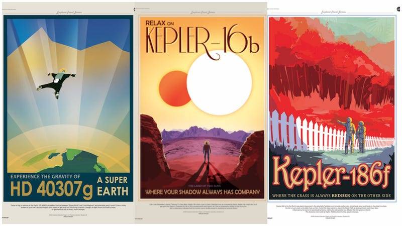 Illustration for article titled NASA's Exoplanet Travel Posters Have Us Planning Our Space Vacation