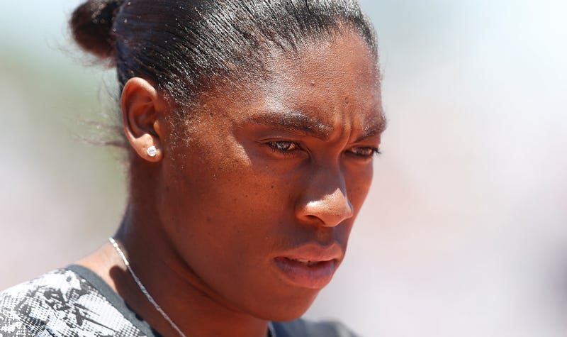 Caster Semenya of South Africa looks on during the Prefontaine Classic at Cobb Track & Angell Field on June 30, 2019, in Stanford, Calif.