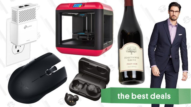 Thursday's Best Deals: $5 Wine, Custom Suits, Massive Networking Sale, and More
