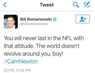 Bill Romanowski's tweetTwitter