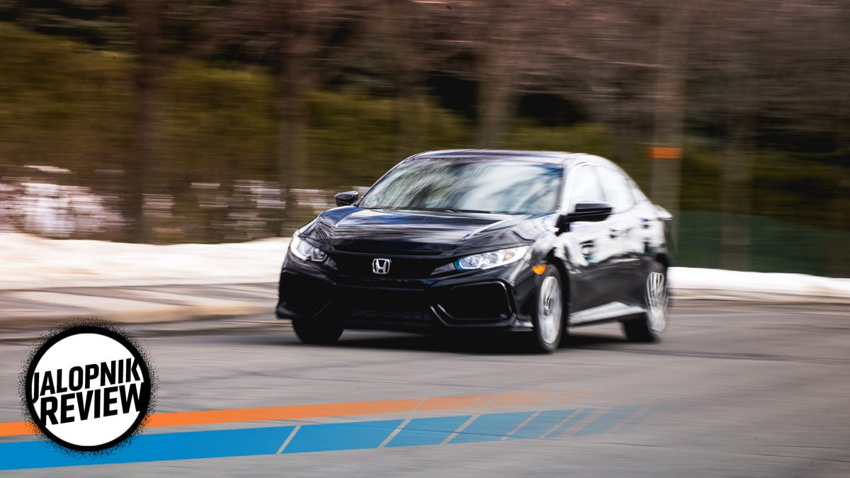 A 2017 Honda Civic Hatchback LX With A Manual Is The Small