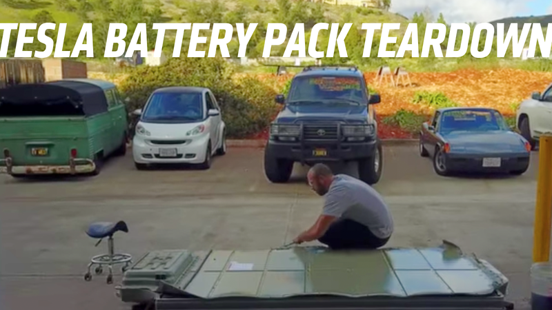 Illustration for article titled This Teardown Of A Tesla Model S Battery Pack Is Pretty Fascinating