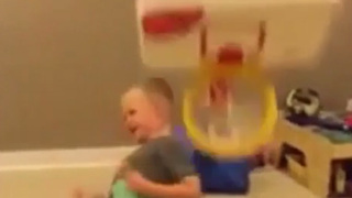 Small Child Dunks, Gloats, Gets Owned So Hard
