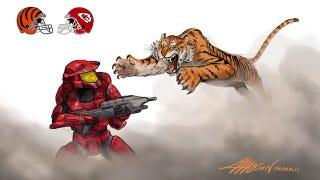 Illustration for article titled Pixar animator recaps the NFL season as epic comic battles