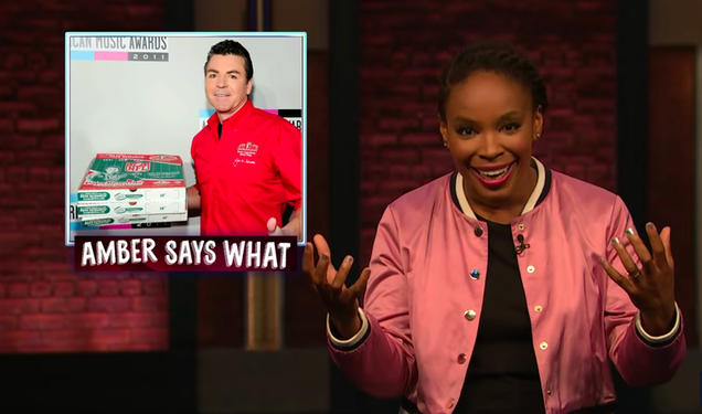 Amber Ruffin can't force Seth Meyers to replicate Papa John's racial slur on Late Night