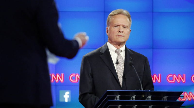 Illustration for article titled Overwhelming Democratic Favorite Jim Webb to Drop Out of Race, No, How Could This Happen