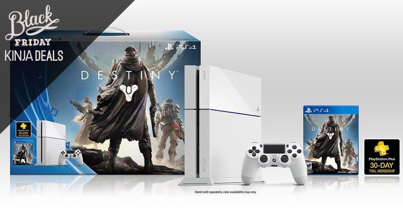 Illustration for article titled The White PS4 Destiny Bundle Joins the Black Friday Fray