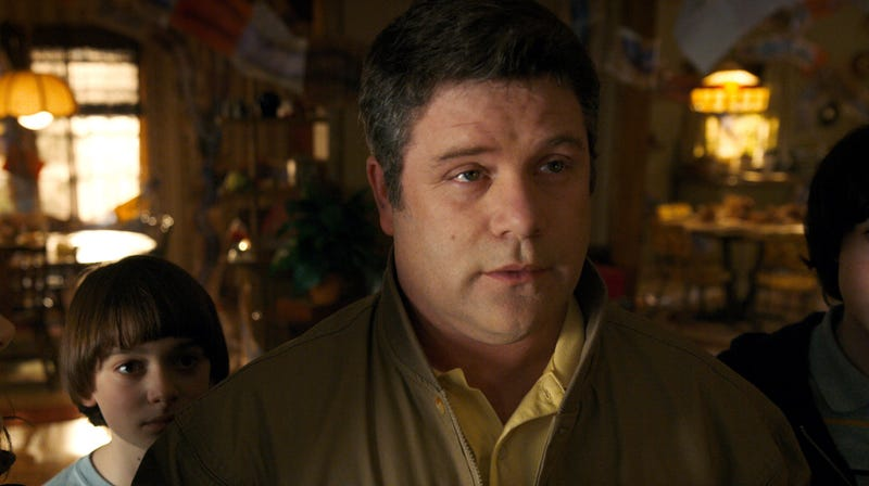 Sean Astin in Stranger Things 2, which was almost a career coming full circle.