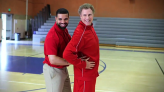 Drake and Will Ferrell in a NBA handshake skit for the NBA Awards (YouTube screenshot)