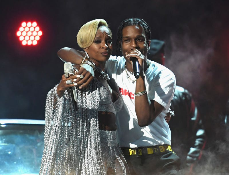Mary J. Blige and ASAP Rocky perform at 2017 BET Awards at Microsoft Theater in Los Angeles  on June 25, 2017. (Paras Griffin/Getty Images)