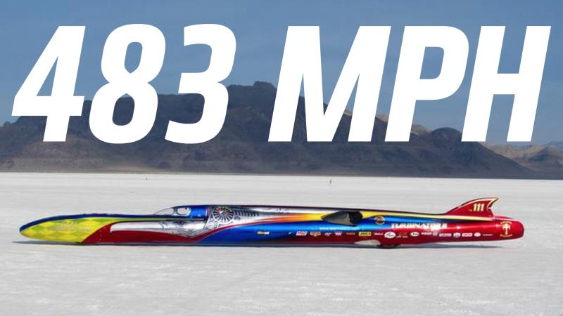 Illustration for article titled Un coche a reacción bate el récord mundial de velocidad conduciendo a 777 kilómetros por hora