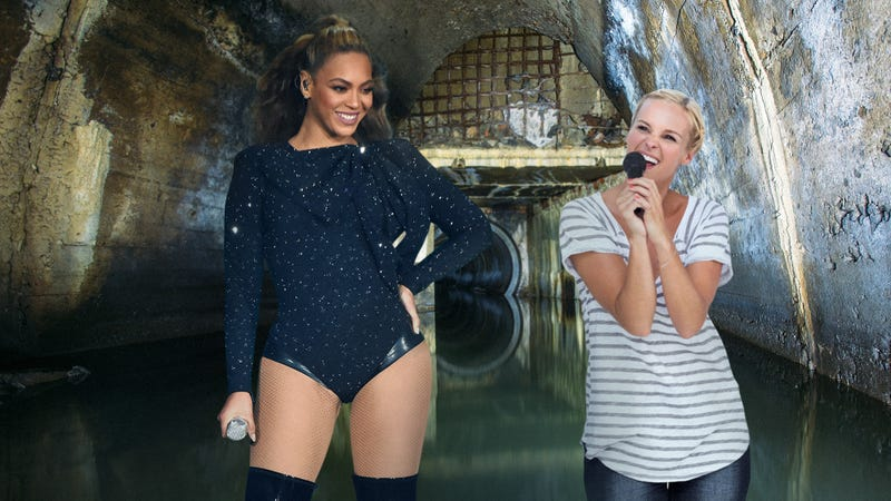Illustration for article titled The Experience Of A Lifetime: Beyoncé Brought A Lucky Fan Down Into The Sewer And Let Them Sing 'You're A Grand Old Flag'