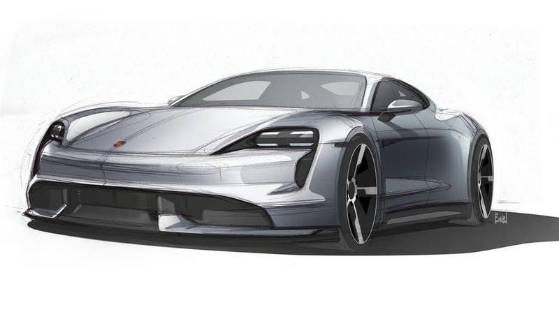 Illustration for article titled If the Porsche Taycan Looks Like This Sketch It'll Be Great News For Your Eyes