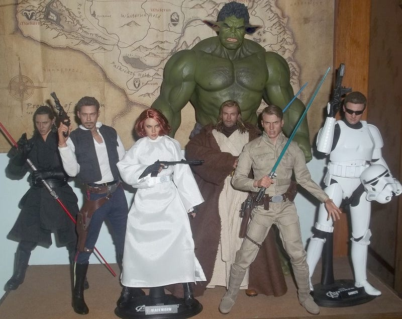 Illustration for article titled The Avengers assemble awesome Star Wars costumes for Halloween