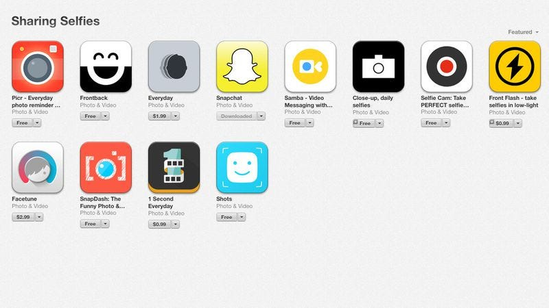 Illustration for article titled Apple creates an App Store section for narcissism