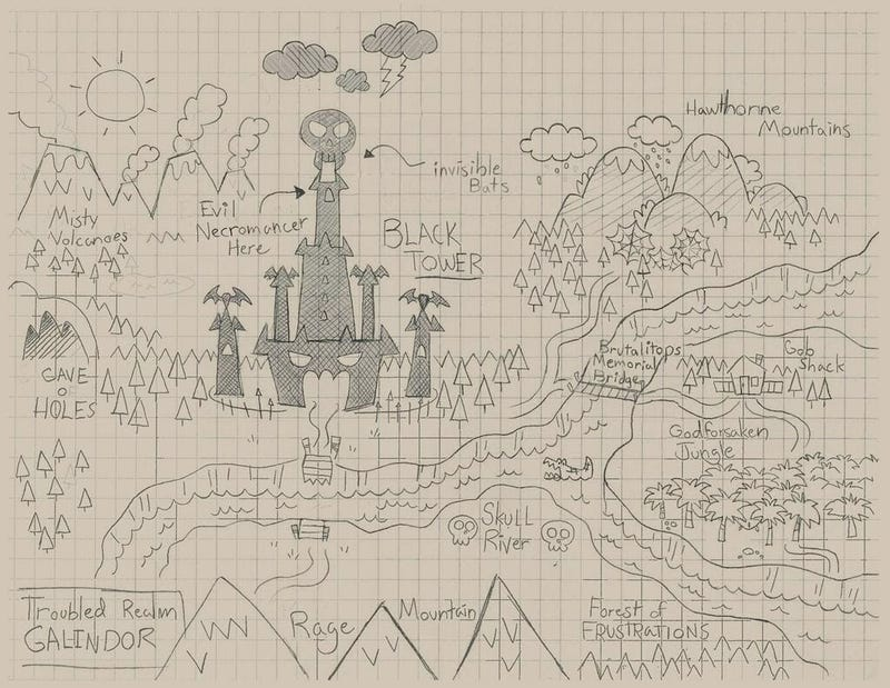 Illustration for article titled Here's The Full D&D Map From This Week's Community