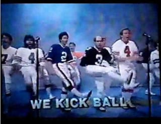 Illustration for article titled Morning Blogdome: We Are Kickers, We Kick Ball