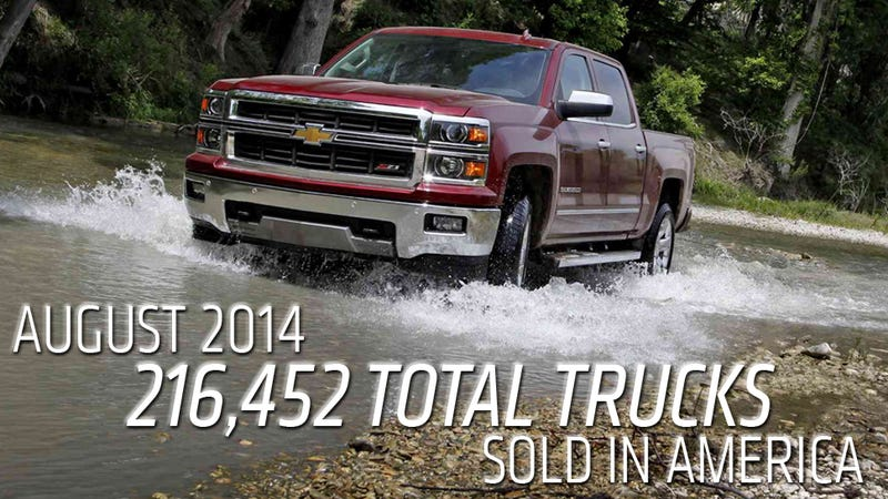 Illustration for article titled GM Truck Sales Just Beat Ford F-Series For The First Time This Year