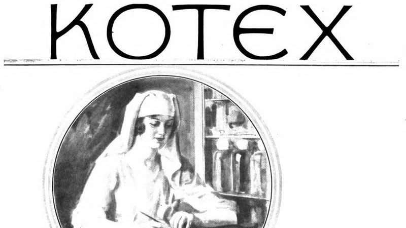 Illustration for article titled Before White Yoga Pants, the Star of Kotex Ads Was World War I