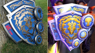 Illustration for article titled Man Builds Amazing Replica of Iconic World of Warcraft Shield