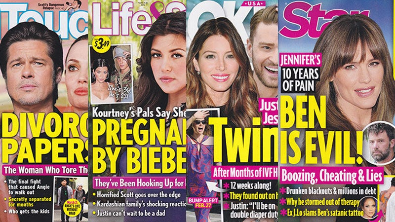 Illustration for article titled This Week In Tabloids: Let Us Pray, Kourtney Kardashian Is Pregnant With Justin Bieber's Baby
