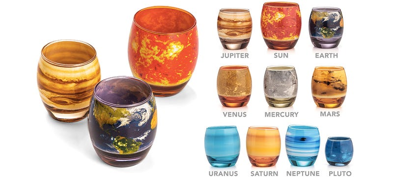 Illustration for article titled Sip a Cosmopolitan From the Cosmos With These Planetary Glasses