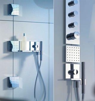 Illustration for article titled Modular Shower Lets You Arrange Your Bath Gadgets Like Building Blocks