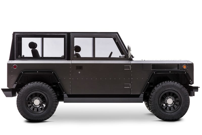 Illustration for article titled Bollinger's 200-Mile Electric Truck Is Fantastically Rugged And Basic