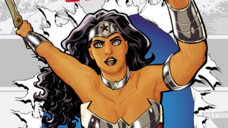 Illustration for article titled Wonder Woman #0 goes back to the Silver Age