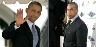 President Barack Obama (Win McNamee/Getty Images); Jay Z (Neilson Barnard/Getty Images)