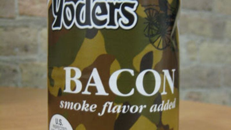 Illustration for article titled Taste Test: Yoder's Canned Bacon and Oscar Mayer Fully Cooked Bacon
