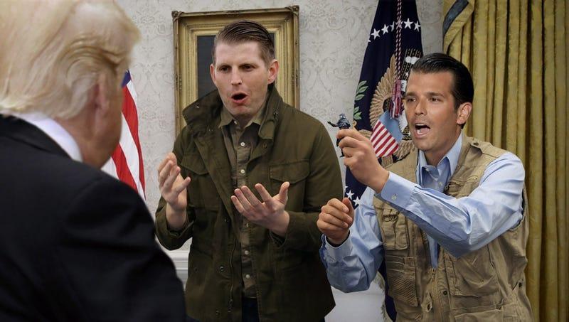 Illustration for article titled Trump Boys Beg Father To Nominate G.I. Joe Action Figure Cobra Commander For VA Secretary