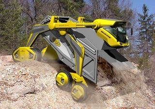Illustration for article titled Could The Super Tipper Be The Future Of Dump Trucks?