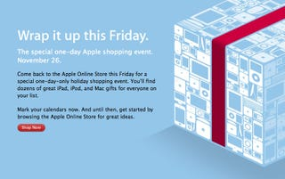 Illustration for article titled Apple Tantalizes Black Friday Shoppers With Sale Teaser