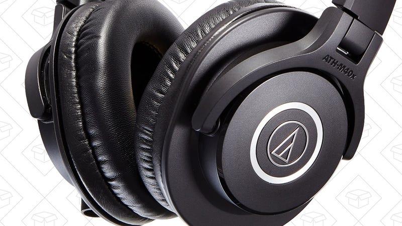 Audio Technica ATH-M40X + Case + ATR 3350i Microphone, $79 with code PRO4X10