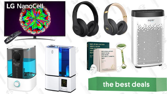 Saturday s Best Deals: LG NanoCell 65-Inch Smart 4K TV, Aiper HEPA Air Purifier, Beats3 Wireless Headphones, Soothing K-Beauty Products, Top-Fill Humidifier, and More