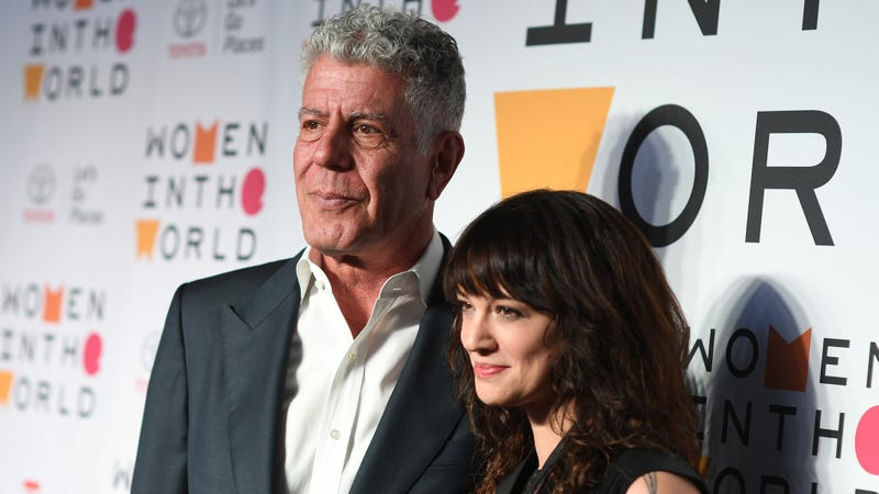 Bourdain and Argento in April.