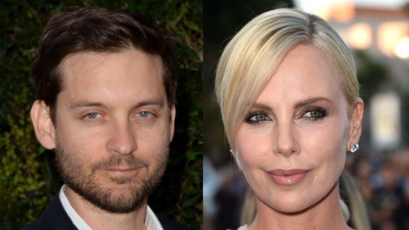 Illustration for article titled That's weird—Tobey Maguire and Charlize Theron Didn't Get Along on the Set of Cider House Rules
