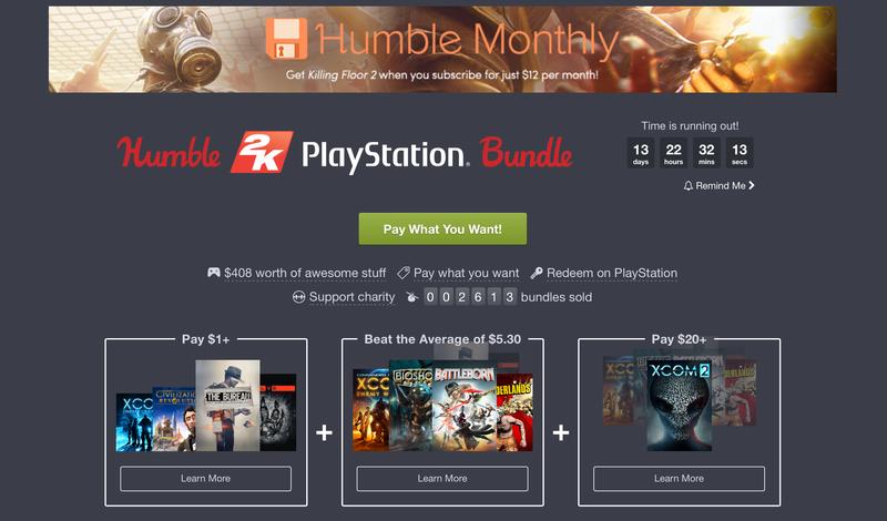 Humble 2K PlayStation Bundle