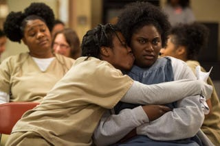 We just want to hug Crazy Eyes and Taystee for all the great laughs this season.JoJo Whilden/Netflix