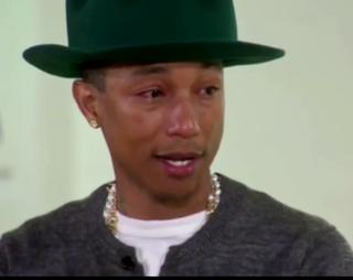 Pharrell tears up on Oprah Prime
