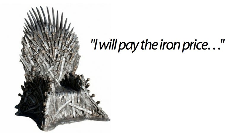 Illustration for article titled GoT Iron Throne Reviewed by Those Who Know it Best