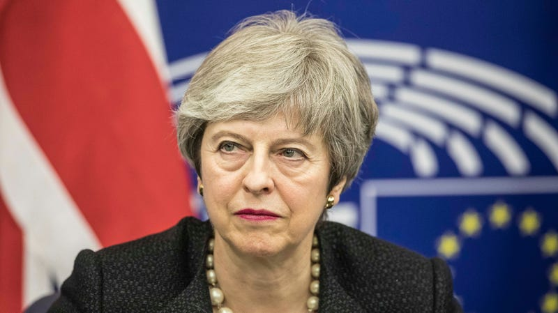 British Prime Minister Theresa May, whose Conservative Party is implementing a plan to force porn sites to verify the identities of users.
