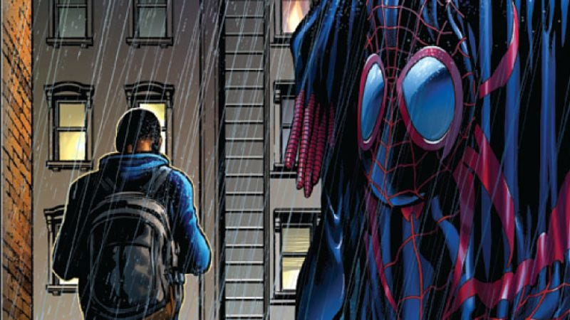 Illustration for article titled Ultimate Comics Spider-Man #23 jumps forward a year for an exciting new status quo