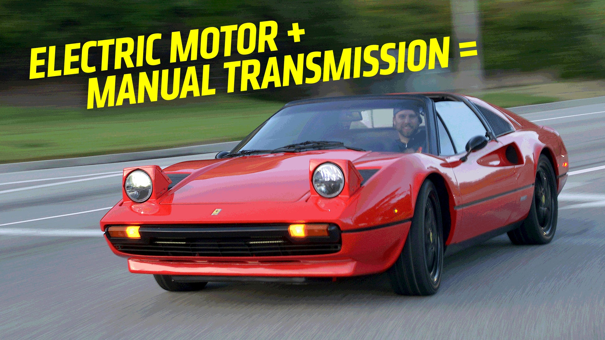 an electric ferrari with a manual gearbox is strangely wonderful rh jalopnik com Manual vs Automatic Car Manual Car Pedals